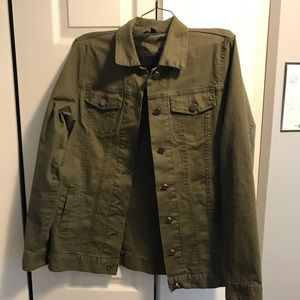 Military Green Button Up Jacket